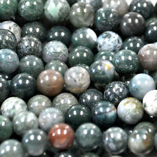 MOSS AGATE 10MM ROUND GEMSTONE BEADS 16 AA++ BEAD