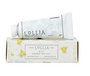 Lollia Wish Handcreme Petite Treat Size with Sugared Pastille Vanilla Bean
