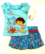 NWT Nickelodeon Infant Girls Dora The Explorer 2-Piece Outfit Clothing Set 18 Mo