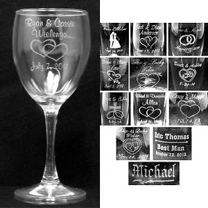 Personalized Wine Glass Laser Engraved Wedding Party Gifts Glasses Custom Gifts