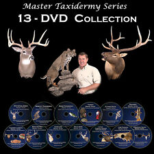 13 Taxidermy Videos on DVD - Big Game, Birds, Fish, Tanning +++ For Beginners