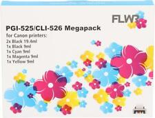 FLWR PGI-525 / CLI-526 6-pack - Optie 27 Black And Color for FLWR Canon NON OEM