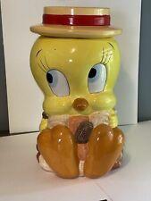 """Vintage Tweety Bird Looney Tunes Ceramic Cookie Jar 11.5"""" Tall"""