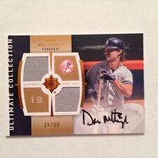 2008 UD Ultimate Collection DON MATTINGLY 2 Game-Used Auto Patch #15/99 Yankees