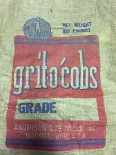 The Andersons Maumee Ohio Farmer Market Grit -O' Cobs Corncob Burlap Bag