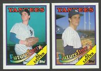 1988 Topps Al Leiter New York Yankees Rare Error & Corrected Rookie Card #18 Lot