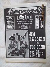 UNICORN COFFEE HOUSE~BOSTON~FOLK~BLUE GRASS~JIM KWESKIN~RJ LURTSEMA~WELLESLEY MA