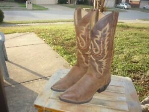 Women's 6 B M Justin Brown Dress Boots Pointed Toe Westerner Cowboy Boots L4966
