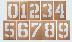 12' inch tall Numbers stencil set 0 thru 9