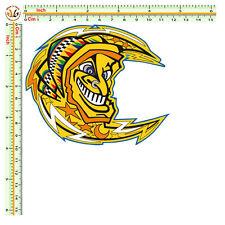 sticker VALENTINO ROSSI moon adesivo luna gialla casco helmet moto auto 1 pz.