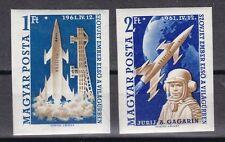 Ungarn 1961 postfrisch MiNr. 1753B-1754B  Jurij Alexejewitsch Gagarin