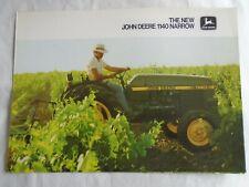 John Deere 1140 Narrow Tractor brochure Aug 1979 English text