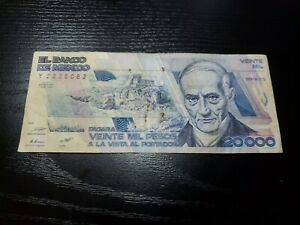 🇲🇽 Mexico 20000 Pesos 1-February  1988  Serie  CQ P-92a Banknote 012121-9
