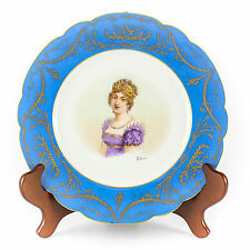 Signed Sevres Cabinet Plate Chateau des Tuilleries Portrait of Marie Louise