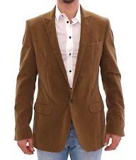 NWT $1200 DOLCE & GABBANA D&G Blazer Coat Jacket Brown Manchester IT48 / US38 /M