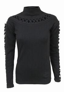 Gothic Elegance Womens Watefall Slits Longsleeve Top | Gothic | Spiral Direct