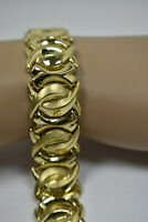 "Antique 18K Yellow Gold Handcrafted Heavy 31g 3/4"" WIDE Bracelet 7"""