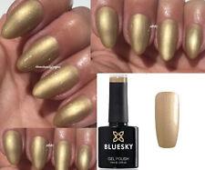 BLUESKY GEL POLISH GOLD NUDE NAIL AUTUMN BEIGE A28 UV LED SOAK OFF + WIPES