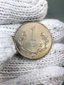 (0454) (RARE) 1964 Greenland 1 Krone (AU) KM# 10a