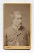 CDV Carte de visite PHOTO Homme A. Lumière LYON Vers 1900 Moustaches Vintage