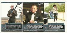 2014 James Bond Archives Skyfall Expansions James Bond Mission Logs 3 card Set