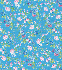 Decopatch Decoupage Printed Paper Turquoise Background Pink Roses