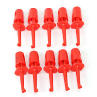 10x Mini Grabber Test Hook Probe Spring Clips for PCB SMD IC Multimeter Red