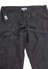 New Womens Green Linen NEXT Maternity Trousers Size 8 Long