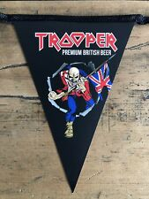 Iron Maiden Trooper Beer Bunting Pennant Rare Robinsons