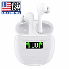 Bluetooth Earphones 5.2 Wireless Earbuds IPX7 Waterproof LED Noise Cancelation