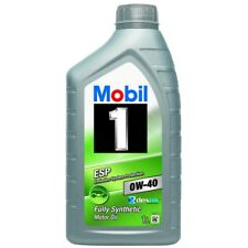2 x Mobil 1 ESP 0W-40 Fully Synthetic 1 Litre Car Engine Oil Lubricants 151499