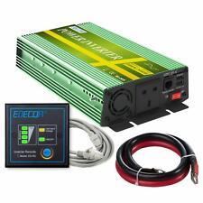Power Inverter 1000W 2000W 12V 240V Pure Sine Wave UK Sockets 2 USB Ports