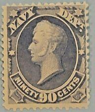 Scott#: O45 - Navy Mint OG LH 1873 90¢ NAVY OFFICIAL SCV $1050