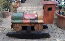 Children's Toy rocker train.oak wood .hand made .two years upwards .