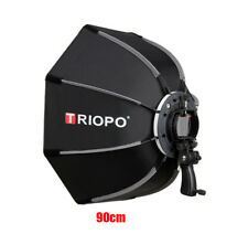 Triopo 90cm Portable Octagon Softbox for Speedlight Flash Bracket with Handgrip