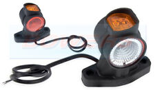 PAIR OF(2) RED WHITE AMBER LED SIDE END OUTLINE MARKER LIGHTS LAMPS FOR TRAILERS