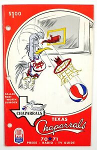 1970-71 ABA Texas Chaparrals TV Radio Media Press Guide Program Yearbook