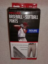 Franklin Deluxe Baseball - Softball Pants   Size: Youth Large - Grey