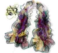 New Fashion Women Ladies Chiffon Floral Scarf Soft Wrap Long Shawl