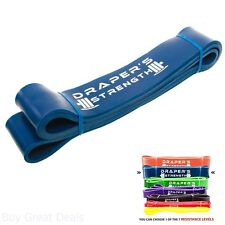 Pull Up, Strength, Resistance, Power Lifting Bands, 6 Blue 60-150 Lbs 2-1/2