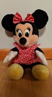 Vintage Disney Minnie Mouse Stuffed Plush Toy in Red/White Polka Dot Dress 15""