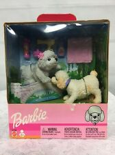 Barbie Doll Pet Bobble Head Dogs With Accessories New In Box