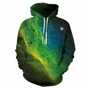 Women's Men Hoodie Galaxy 3D Print Sweater Sweatshirt Jacket Coat Pullover Tops