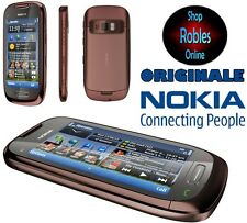 "Nokia c7-00 8gb marrón sin bloqueo SIM smartphone WLAN 8mp 4 Band 3,7"" GPS top OVP"