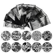10 Sheets Black Flower Lace Nail Art Water Transfer Decal Sticker Nail DIY Decor
