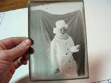 "ANTIQUE "" lady with WHIP ?? - glass negative  MAGIC LANTERN GLASS SLIDE"