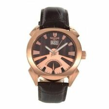 $675 LANCASTER OLA0346RG Men's Watch Lanza rose Gold and Brown Dial NEW