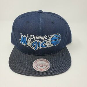 NWT Mitchell And Ness Orlando Magic Strapback Hat Cap Raw Denim