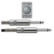 Câble Jack 6,35 Mâle Mono vers Jack 6,35 Mâle Mono Connecteur Neutrik 1,5 Métre