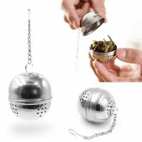 2X Stainless Steel Tea Infuser Ball Mesh Loose Leaf Herb Strainer Secure Locking